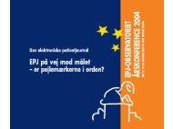 Sammenhæng i diabetesbehandlingen - EPJ-Observatoriet