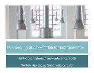 Monitorering af pakkeforløb for kræftpatienter - EPJ-Observatoriet