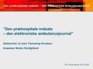 Den præhospitale indsats – den elektroniske ... - EPJ-Observatoriet