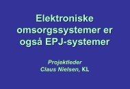 Om behovet for at vi taler et Fælles sprog - EPJ-Observatoriet