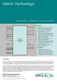 Fast Hash SHA-1, SHA-256, SHA-384, SHA-512, MD5 Actel FPGA ...
