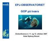i genoptræningsplaner - EPJ-Observatoriet