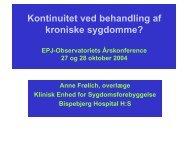 Forbedringsmuligheder af kroniske patientforløb ... - EPJ-Observatoriet