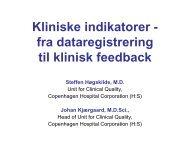 Praktisk anvendelse af kliniske indikatorer i H:S - EPJ-Observatoriet