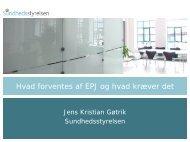 Hvad forventes af EPJ og hvad kræver det - EPJ-Observatoriet