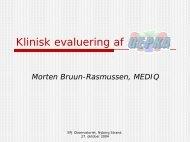 Klinisk evaluering - EPJ-Observatoriet