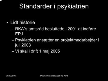 Standarder i psykiatrien - EPJ-Observatoriet