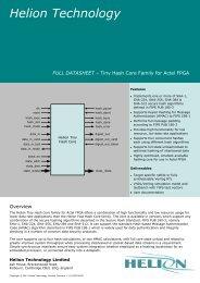 Tiny Hash SHA-1, SHA-256, SHA-384, SHA-512, Actel FPGA core ...