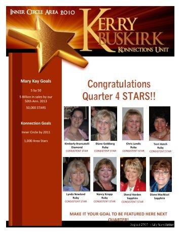 Congratulations Quarter 4 STARS!! - Kerry Buskirk