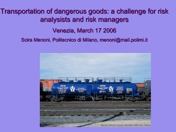 Transportation of dangerous goods: a challenge for risk ... - Risk Trace