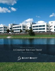 A Company You Can Trust - Security Benefit