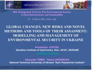 modelling and management of environmental security in - Risk Trace