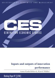 Working Paper No 9,,/200 Inputs and outputs of innovation ... - VÅEM