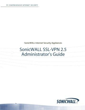 SonicWALL SSL VPN 2.5 Administrator's Guide