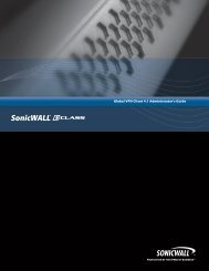 SonicWALL Global VPN Client 4.1 Administrator's Guide
