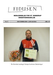 Referat fra O-møde i Klubhuset 2010 - St. Binderup OK