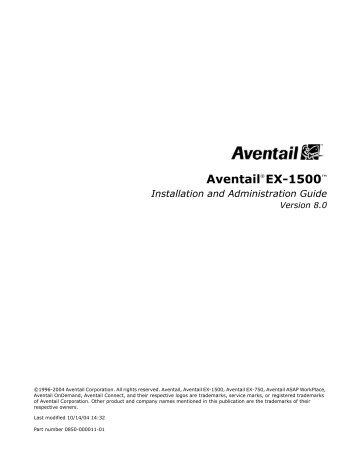 EX-1500 Installation & Administration Guide - SonicWALL