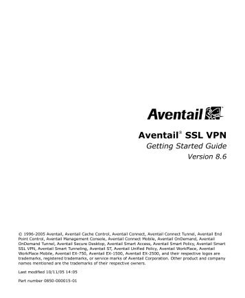 Aventail® SSL VPN - SonicWALL