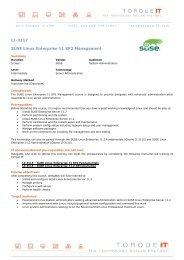 SUSE Linux Enterprise Desktop 11 Setup Guide for     - Toshiba Tec