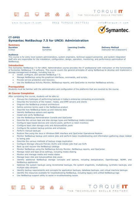 Symantec netbackup 7. 5 for windows administration 250-371.