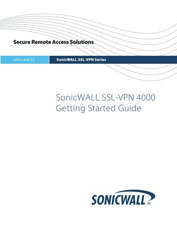 SonicWALL SSL-VPN 4000 Getting Started Guide