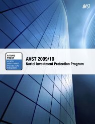 AVST 2009/10 - SSP Converged Solutions