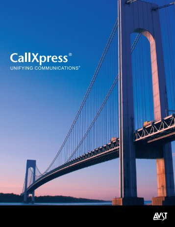 CallXpress 7.9 Unifying Communications Brochure - SSP Telecom