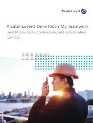 Alcatel-Lucent OmniTouch 8660 My Teamwork with Land Mobile