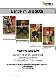 Dance im STB Dance im STB 2009 - Schwäbischer Turnerbund