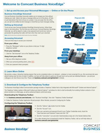 Business VoiceEdge Quick Reference Guide - Comcast Business