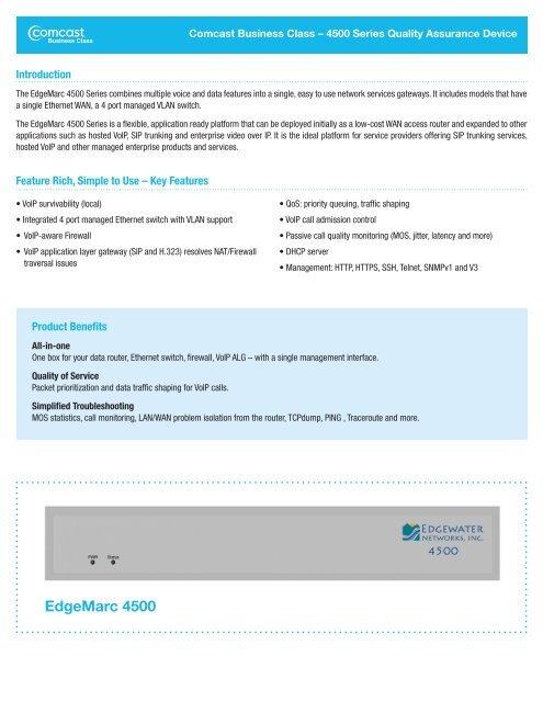EdgeMarc 4500 - Comcast Business