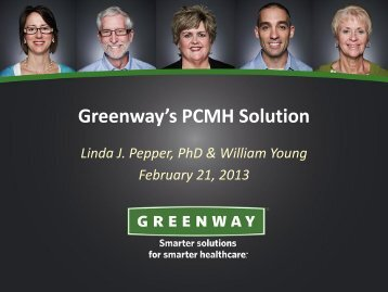 Presentation slides - Greenway Medical Technologies
