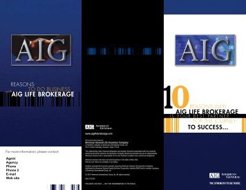 aig life brokerage aig life brokerage - AIG.com