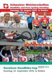 Festführer SM und Handbike-Cup - auf der Seite des SRB-Luzern