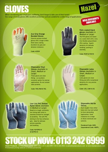 Gloves, First Aid & High Vis - Hazel Products