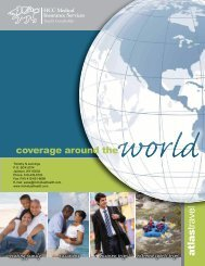 2010 Atlas Brochure - GeoBlue Travel Medical and International ...