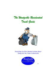 Wentzville Trash & Recycling Guide - The City of Wentzville | Missouri