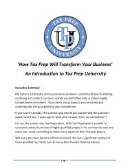 How Tax Prep Will Transform Your Business - PFG Marketing Group ...