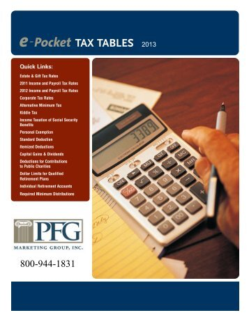 e-Pocket TAX TABLES - PFG Marketing Group, Inc.