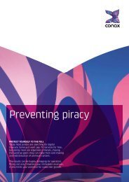 Preventing piracy - Conax
