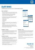 Delfi WMS handheld terminal program Software for handheld ... - Page 2