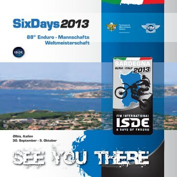 OLBIA - ISDE 2013 The official website of the International