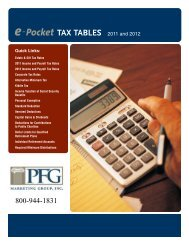2011-2012 e-Pocket Tax Tables - PFG Marketing Group, Inc.
