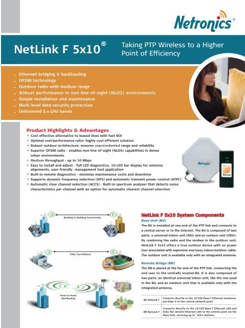 NetLink F 5x10 Brochure and datasheet-LR pdf - easy world