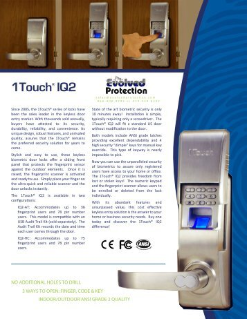 1TouchIQ2 Brochure (PDF)