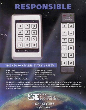 Essex KE-350 Keyless Entry.pdf - Access Hardware Supply