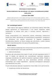 Informacja na temat badania: Analiza działalności rad zatrudnienia i ...