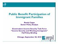 Randy Capps - GIST: Grantmakers Income Security Taskforce