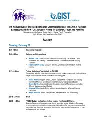 Agenda - GIST: Grantmakers Income Security Taskforce