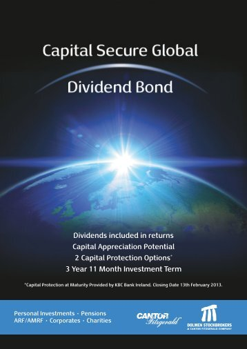Dolmen Stockbrokers Global Dividend Bond - Adelphi Financial ...